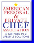 Chef John McGrath is a proud memebr of American Personal & Private Chef Association